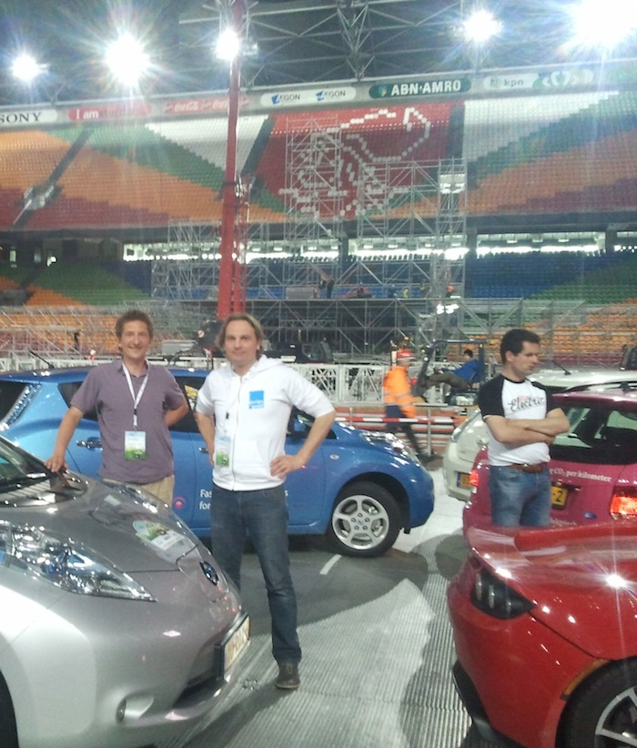Electric Rally stop at Amsterdam ArenA stadium