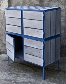 Cabinet made from Newspaperwood