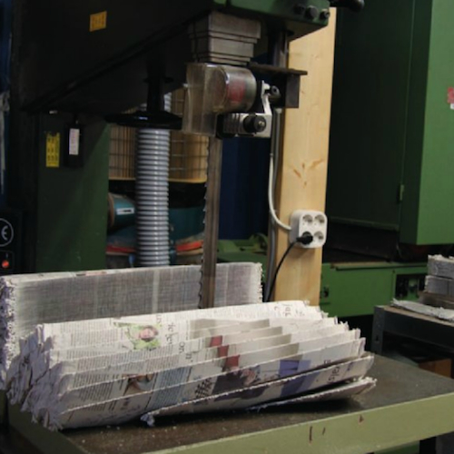 Sawing Newspaperwood