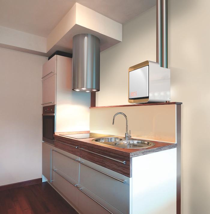 Nano30 HR Ketel geplaatst in een moderne keuken.