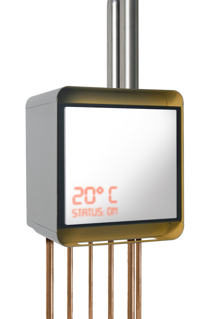 Nano30 HE Boiler stand alone view and interface