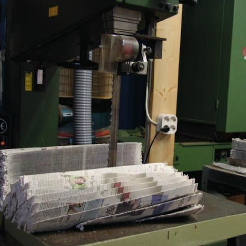 Sawing Newspaperwood