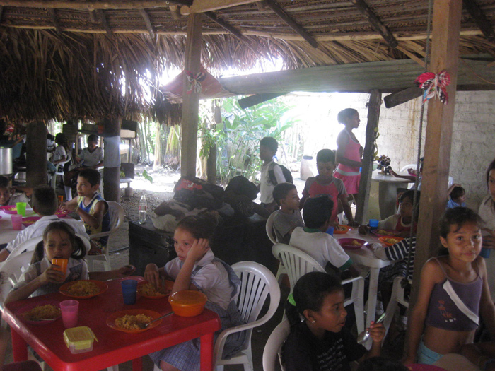 Lunch in the home of Gilma and Chamaco