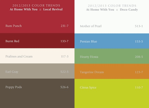 The home color trends for 2012-2013 of PPG Industries