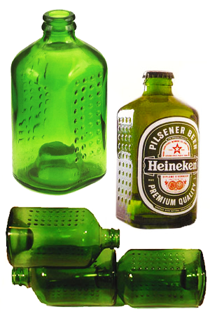 Heineken's World Bottle glass brick